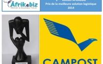 AFRIKEBIZ 2015 : LA CAMPOST REMPORTE LE TROPHÉE DE MEILLEURE SOLUTION LOGISTIQUE DU E-COMMERCE